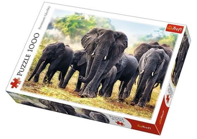 Image of   African Elephants 1000 brikker