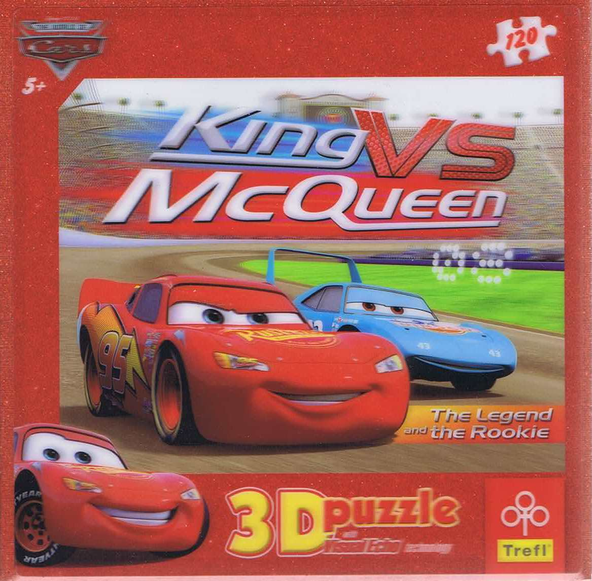 Image of   King VS McQueen, 3D, 120 brikker