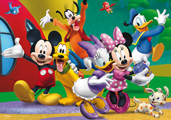 Image of   Mickey Mouse clubhouse, puzzletube, 35 brikker