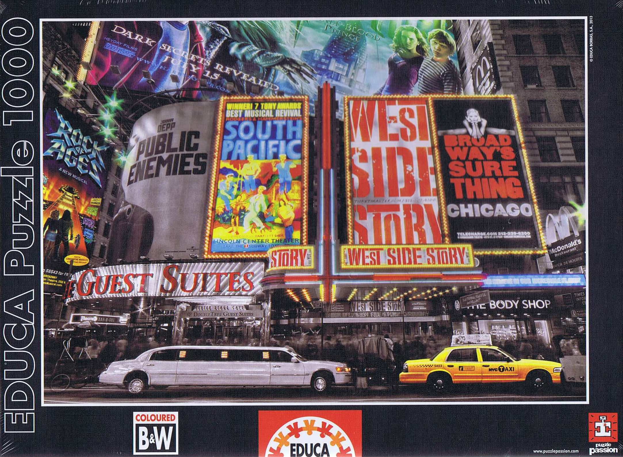 Image of   New York Theatre Signs, 1000 brikker