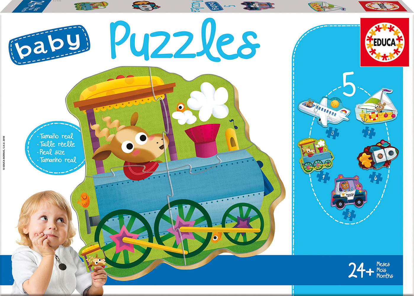 Image of   Baby Puzzles - Vehicles 2, 3-5 brikker
