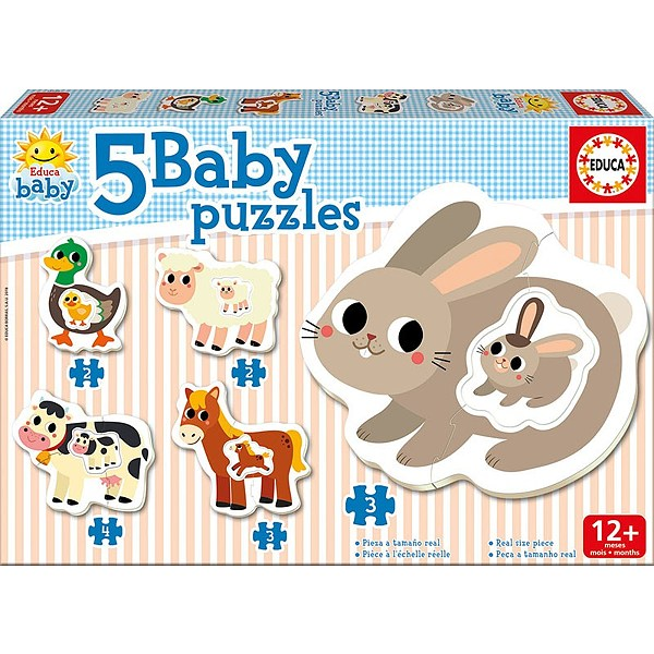 Image of   Baby Puzzles - The Farm, 2-4 brikker