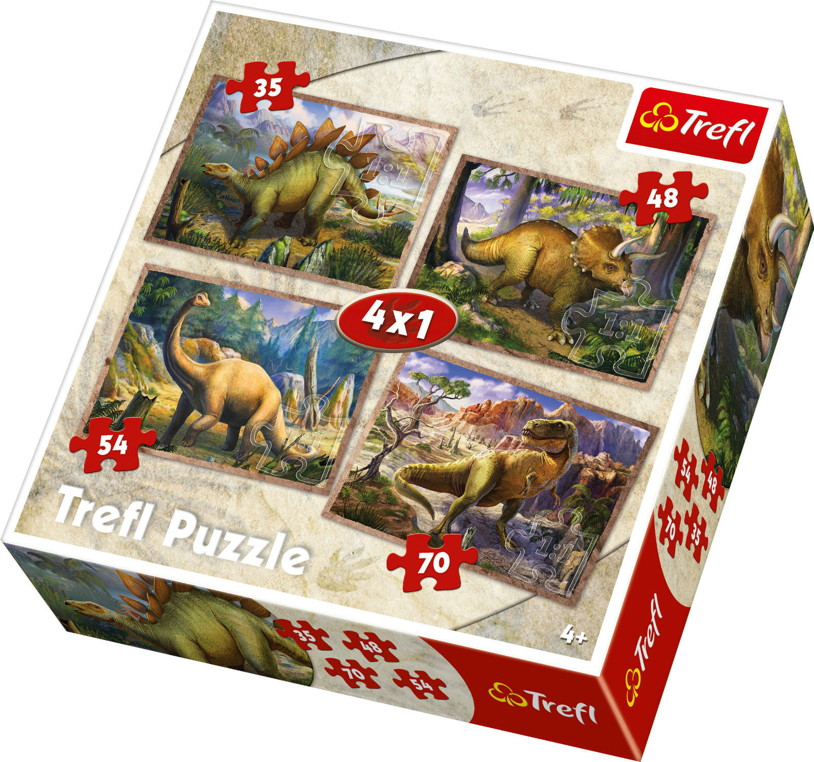 Image of   4-i-1 The Dinosaurs, 35-70 brikker