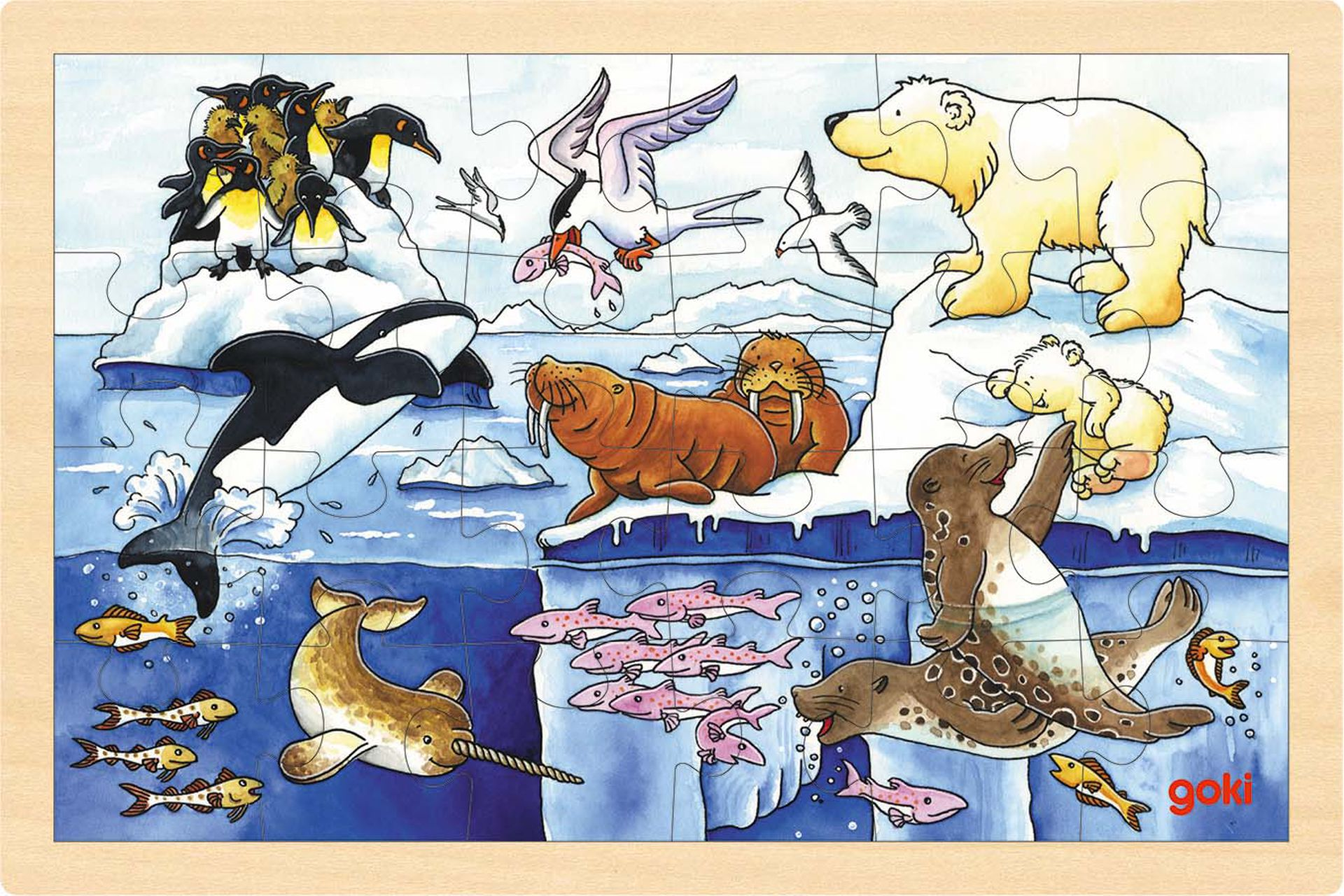 Image of   Arktiske dyr, 24 brikker