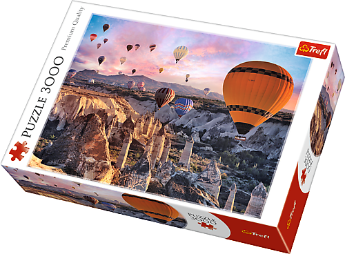 Image of   Balloons over Cappadocia, 3000 brikker