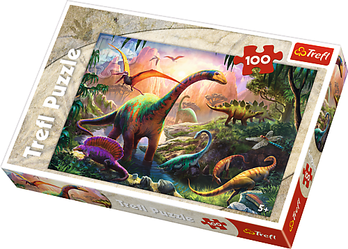 Image of   Dinosaurs Land, 100 brikker