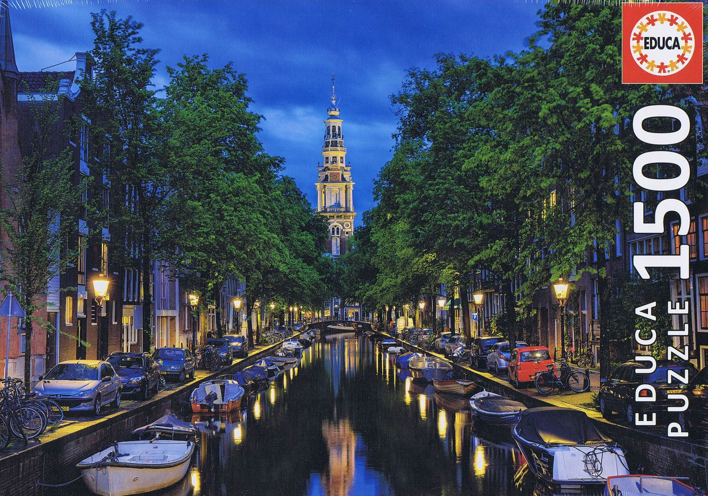Image of Amsterdam Canal at Dusk, 1500 brikker