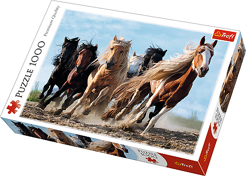 Image of   Galloping Horses, 1000 brikker