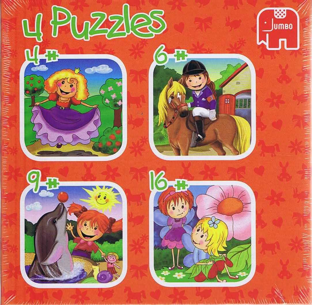 Image of   Girls Adventure, 4 puslespil