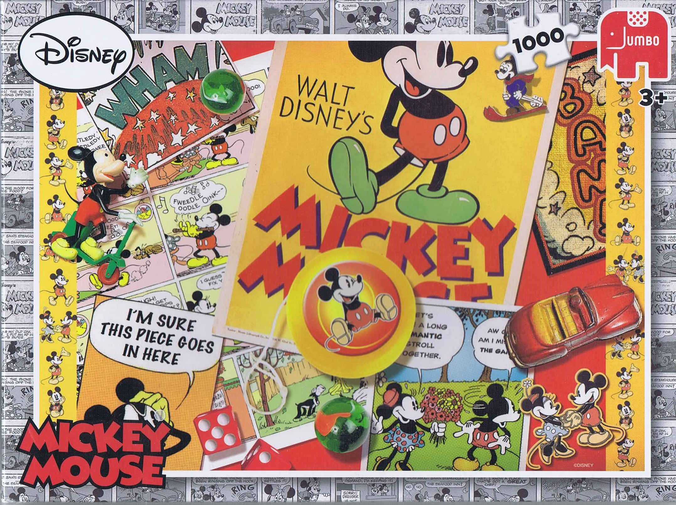 Image of   Mickey Mouse, 1000 brikker