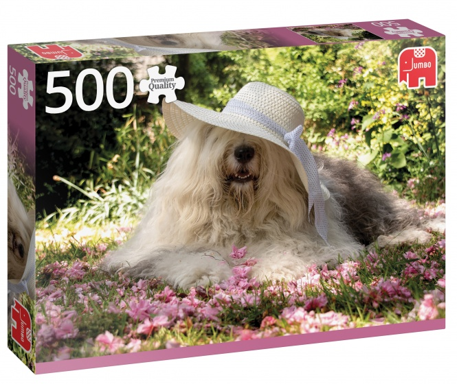 Image of   Sophie in a bed of flowers, 500 brikker