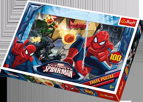 Image of   Spiderman Flugt, 100 brikker