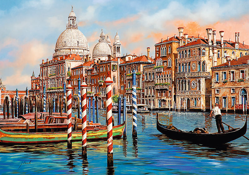 Image of   Afternoon in Venice, 1000 brikker
