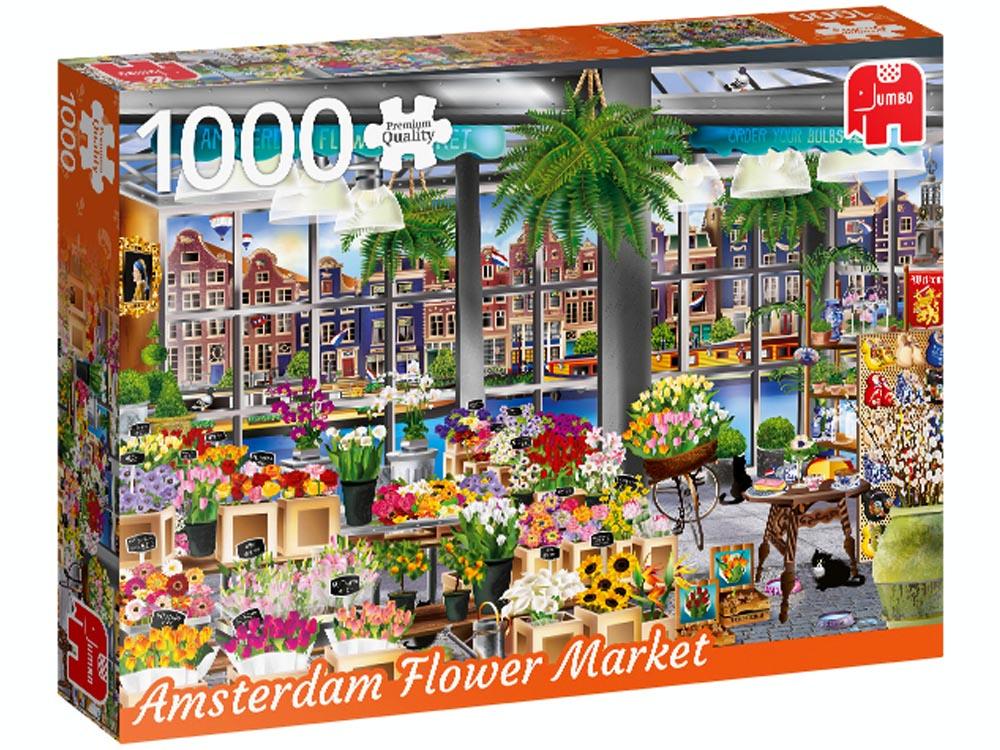 Image of   Amsterdam Flower Market, 1000 brikker