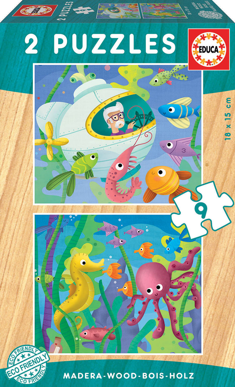 Image of   Aquatic Animals, 2x9 brikker
