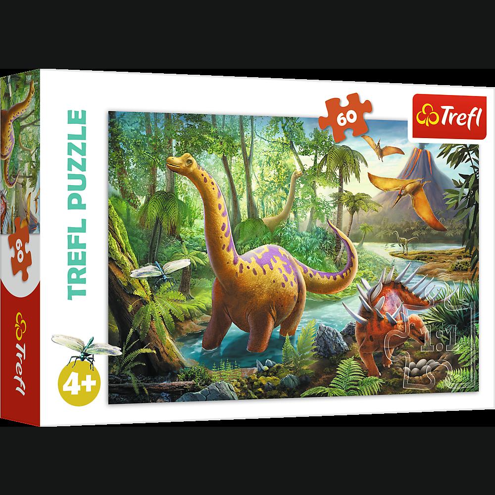 Dinosaurer ved floden - 60 brikker