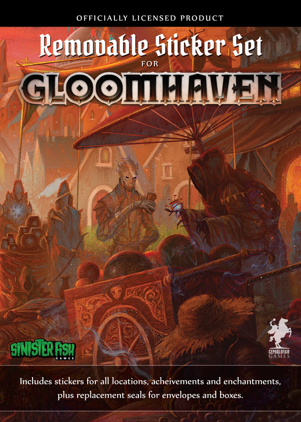 Image of   Gloomhaven: Removable Sticker Set