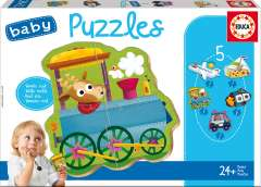 Baby Puzzles - Vehicles 2, 3-5 brikker (1)