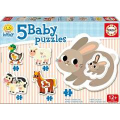 Baby Puzzles - The Farm, 2-4 brikker  (1)