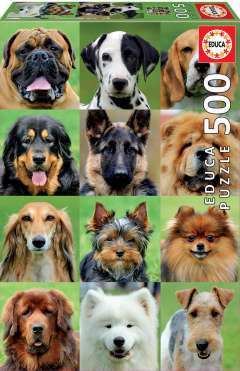 Dogs Collage, 500 brikker (1)