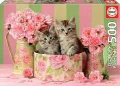Kittens with Roses, 500 brikker (1)