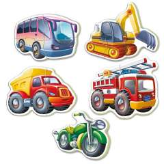 Baby Puzzles - Vehicles, 3-5 brikker (2)