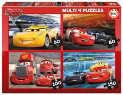 Cars 3, 4 puslespil (1)