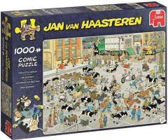 Jan van Haasteren - The Cattle Market - 1000 brikker (1)