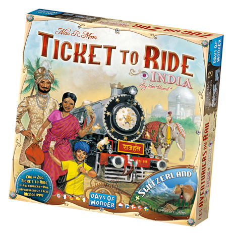 Image of   Ticket to Ride: India og Switzerland - Map Collection #2