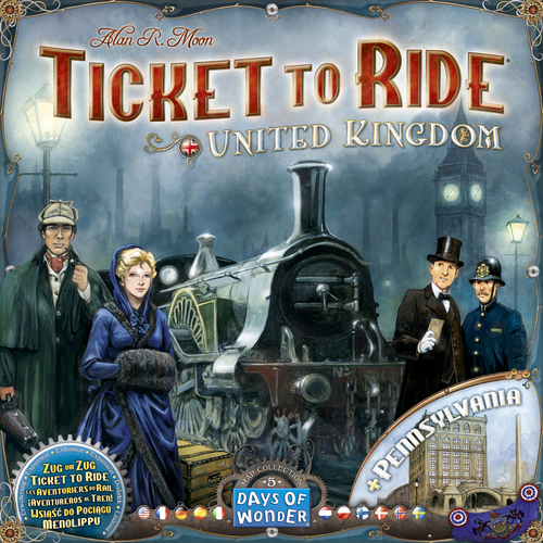 Ticket to Ride: United Kingdoms og Pennsylvania - Map Collection #5